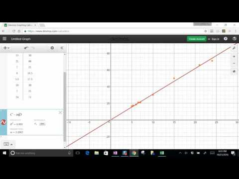How to Fit Data in Desmos