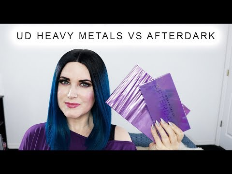 Urban Decay Heavy Metals Palette Swatches, Afterdark Comparison, Demo and Review @phyrra