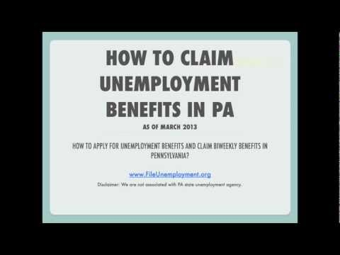 Claim Unemployment benefits in Pennsylvania