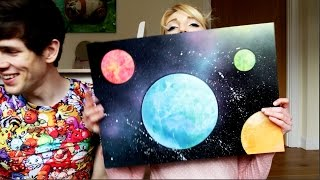 Painting Planets with my Husband
