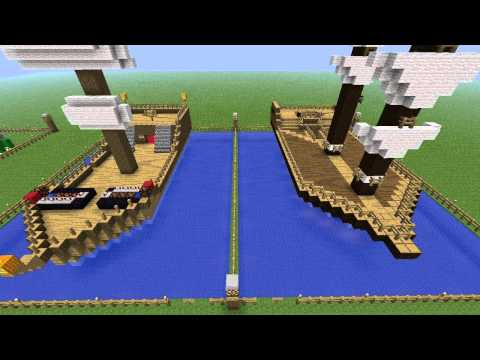 Minecraft Building Challenge - Ep 4 - Pirate Ships