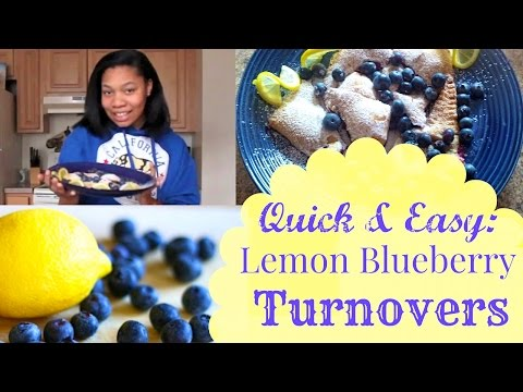 Quick & Easy Lemon Blueberry Turnovers I Sia Blu