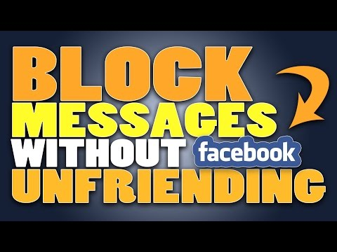 How to BLOCK Someone / Friend from sending messages without UNFRIENDING / BLOCKING | TECHNOLOGY FAQ