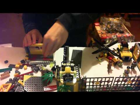 Lego Dino 2012 5887 Dino Defense HQ Time Lapse Building Jurassic Park!?!?!??!