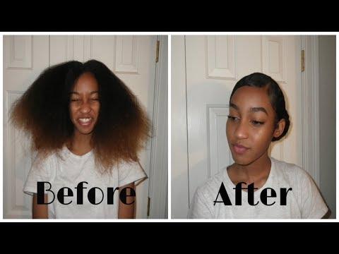 Sleek Bun Tutorial Natural Hair