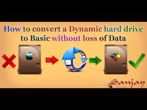 How to Convert Dynamic Hard Disks into Basic Hard Disk without Loss of Data  in Hindi - हिन्दी