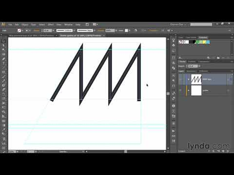 Illustrator tutorial: Setting up angular construction guides   lynda.com