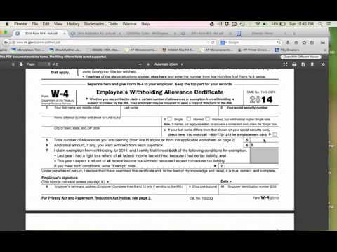 How to fill out a W4