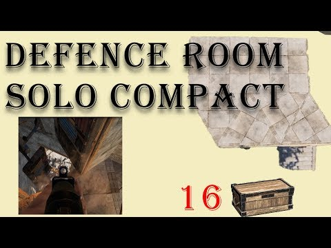 Rust Solo-Compact Base Design with a Defence Room I Rust Base Design Tutorial I Building 3.