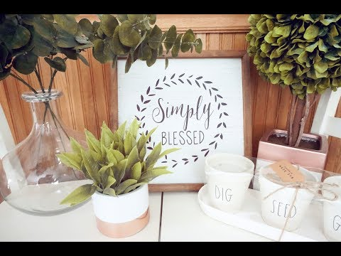 Rustic & Farmhouse Home Decor Haul:  Pops of Green for Spring!