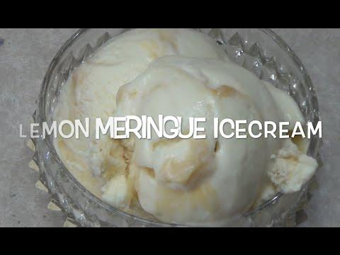 Lemon Meringue Ice Cream cheekyricho video recipe