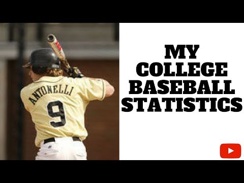 My College Baseball Statistics