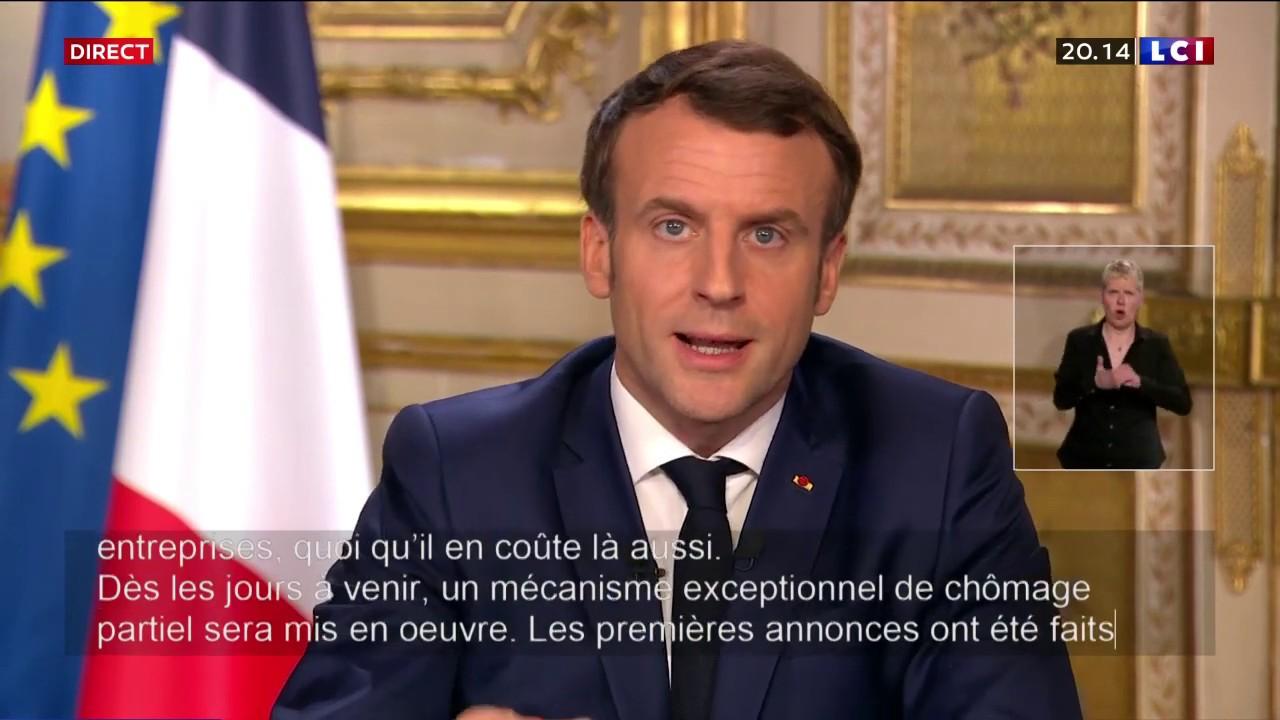 Virus : Discours intégral d'Emmanuel Macron