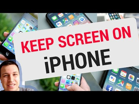 How to keep your iPhone SCREEN ON LONGER?