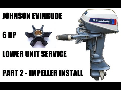 Johnson Evinrude 6 Hp Replace Impeller - Part 2/3