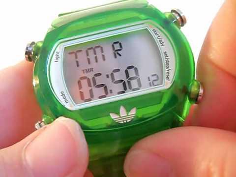 Green Unisex Adidas Candy Digital Sports Watch