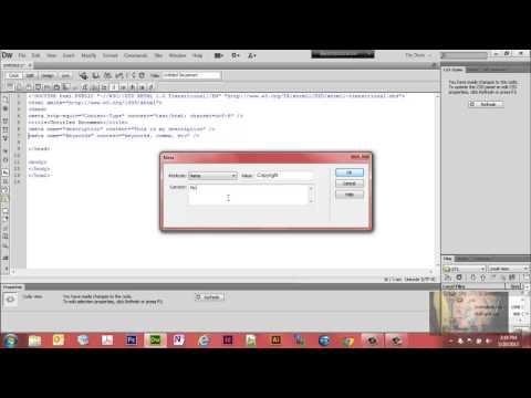 Use DreamWeaver CS6 to Insert Meta Tags