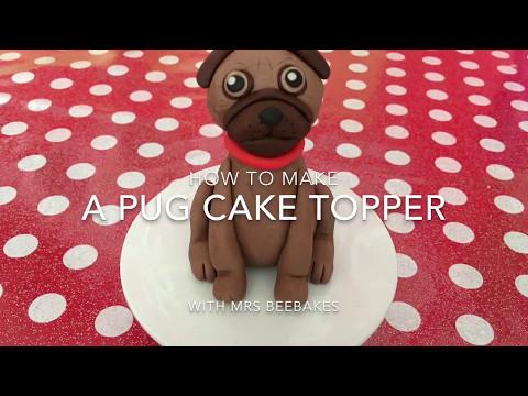 How to make a fondant pug cake topper