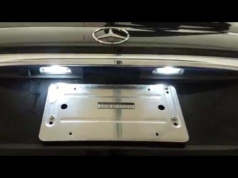 Mercedes LED license plate light error message fixed