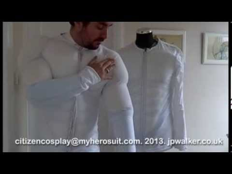 my hero suit - making the suit wearable and trying on an earlier prototype (citizencosplay)