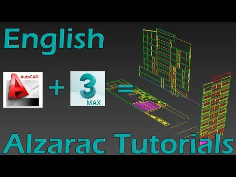 3ds max tutorial - Basic - Layout Autocad Information in 3ds max