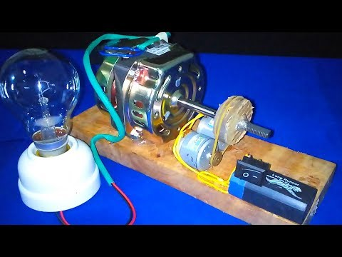 How to Make free energy Generator With motor very easy - Experiment DIY Science Project School 2018