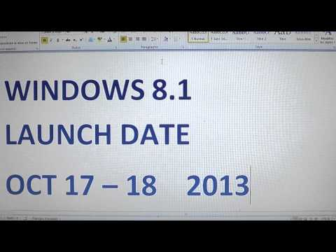 Windows 8.1 launch date officially revealed