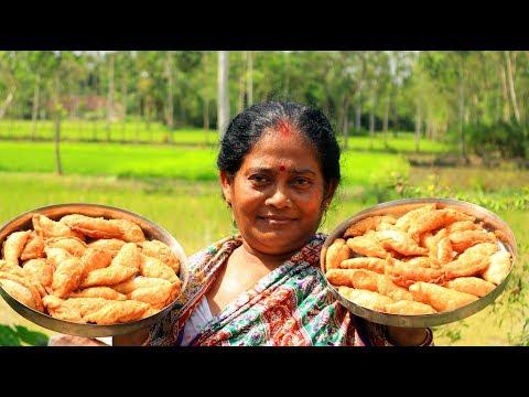 Gujiya recipe - नारियल वाली गुजिया - How to make Gujiya - coconut n flour sweet recipe