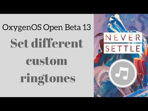 Set different custom ringtones for each contact - OnePlus 3 OxygenOS