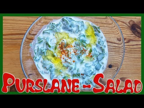 How to Make Purslane Salad with Greek Yogurt
