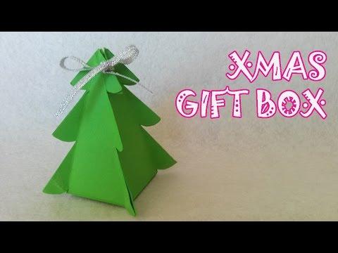 Christmas Tree Gift Box - Origami Easy