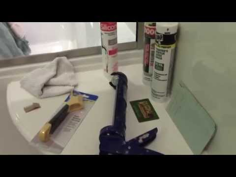 How to remove and replace moldy shower caulk