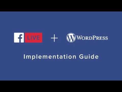 WP Facebook Live Video Wordpress Plugin