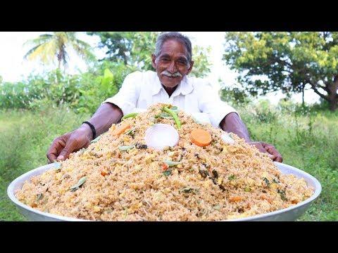 Egg Fried Rice Recipe | Grandpa Making  Egg Fried Rice for Orphan kids