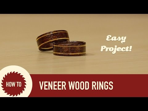 How to Make Wood Wedding Rings | Quick and Easy