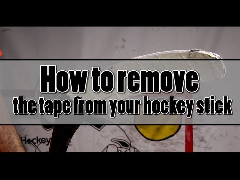 How to remove the tape from your hockey stick Level Beginner