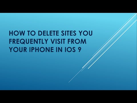 How to Delete Frequently Visited Sites on Your iPhone
