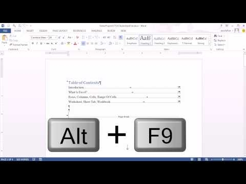 Office 2013 Class #17: Word 2013 Heading Styles To Create Automatic TOC & PowerPoint