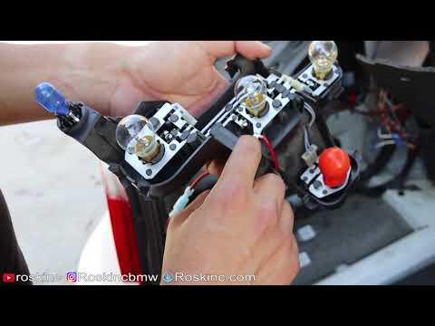 E60 BMW Taillight harness plug bad ground avoid melting fix