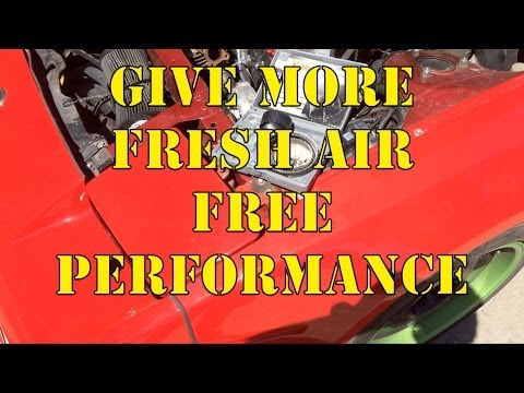 How to increase airflow to cool your car down, free performance.