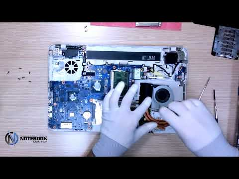 Toshiba Satellite L850 - Disassembly and cleaning
