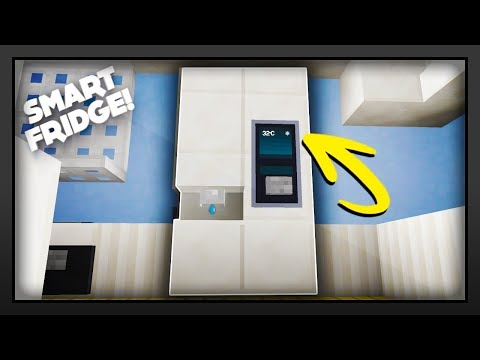 Minecraft - How To Make A Working Smart Fridge