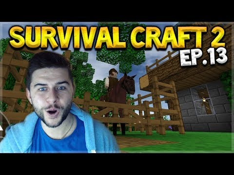 Survival Craft 2 - THE HORSE PEN & FINISHED HOUSE DESIGN! Let's Play (13)
