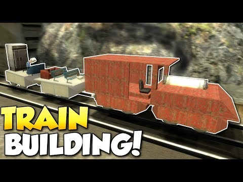 BUILDING A TRAIN!? - Garry's Mod Gameplay - Gmod Sandbox Train Building Funny Moments!