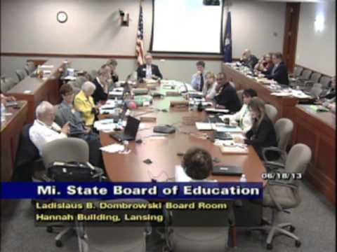 June 16, 2013 Michigan State Board of Education Meeting - Afternoon