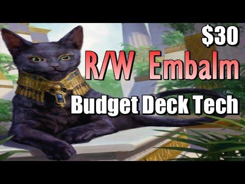 Mtg: R/W Embalm $25 Budget Deck Tech in Amonkhet Standard!