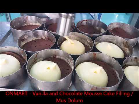 ON MART - Vanilla and Chocolate Mousse Cake Filling / Mus Dolum Makinesi