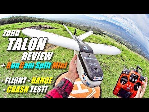 ZOHD NANO TALON FPV Review with RunCam SPLIT MINI & RadioLink AT10ii [Flight, Range, CRASH! Test]