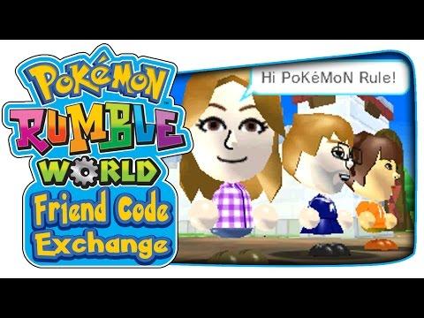 Pokémon Rumble World - Official Friend Code Exchange!