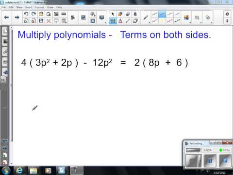 Multiply monomials by polynomials Algebra One 201
